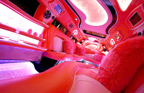 Interior Pink H2 Hummer Limo, Fort Myers