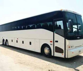 50 passenger charter bus Harlem Heights
