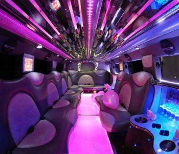 Cadillac Escalade limo interior Ave Maria