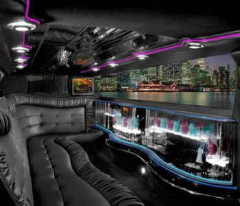 Chrysler 300 limo interior Harlem Heights