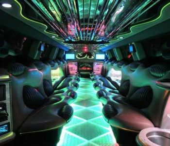 Hummer limo interior Ave Maria