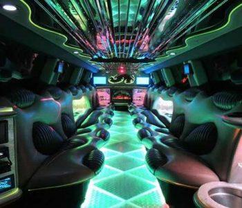 Hummer limo interior Punta Rassa
